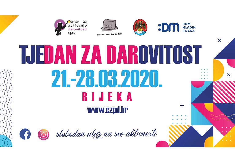 Tjedan za darovitost 2020 Rijeka cover